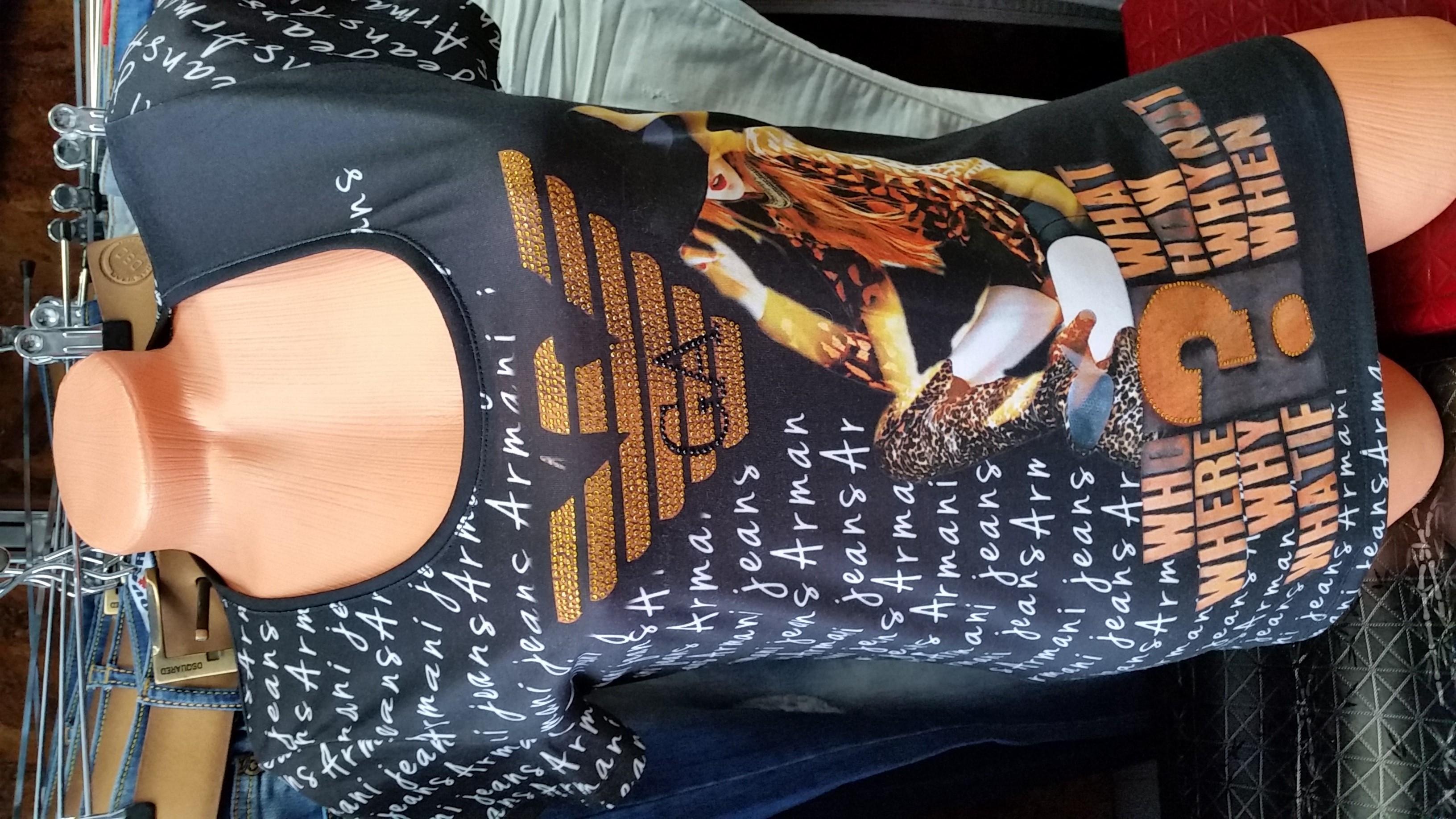 Дамска тениска Armani черна