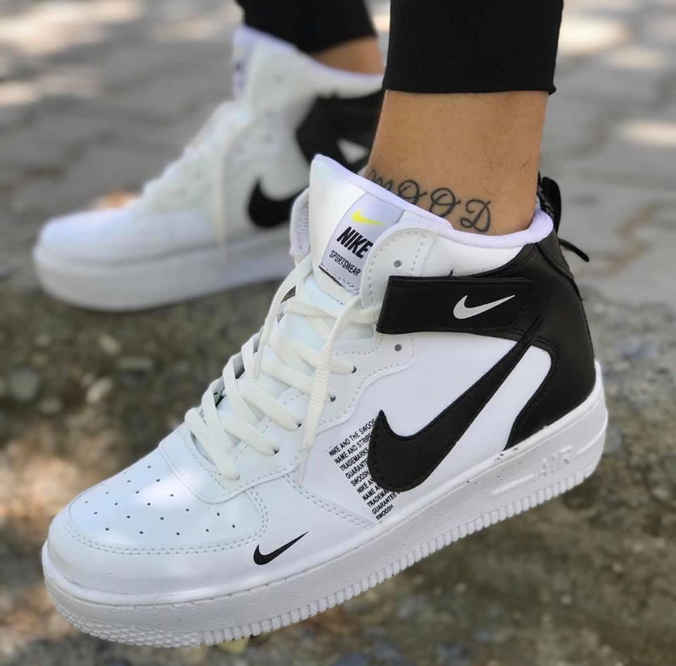 Nike Air Force 2021 boots бяло с черно