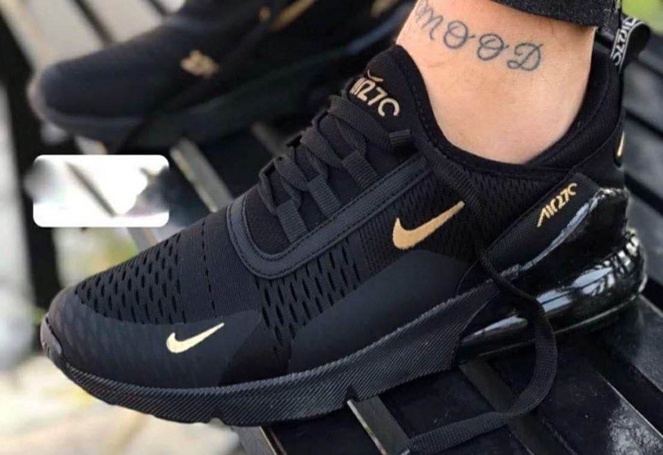 Nike Air Max 270 черно с златно
