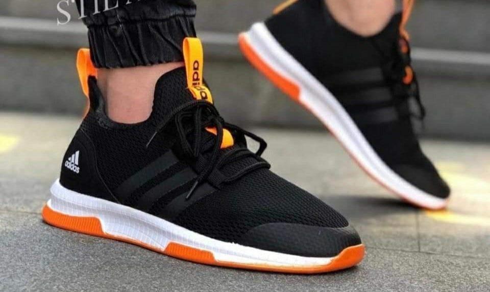 Маратонки Adidas Boost 2020 черно-оранжево