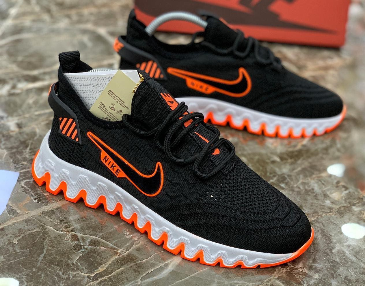 Маратонки Nike Run Черно с оранжево